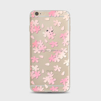 TPU silicon case Romantic Sakura serial TPU cover Soft Phone Case For iPhone 4 4S
