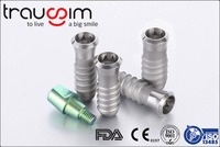 Trausim Titanium Dental Implants with Abutments and healing caps