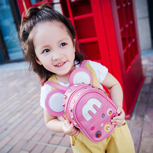 Little girls lovely pink cartoon school bags girls backpacks for little girls
