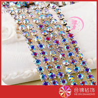Factory direct price glass chaton cupchain Crystal Bridal Cupchain for Garment