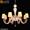 Plastic crystal chandeliers decoration ceiling light brass chain chandelier OMG88619-8W