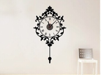 Large wall sticker clock