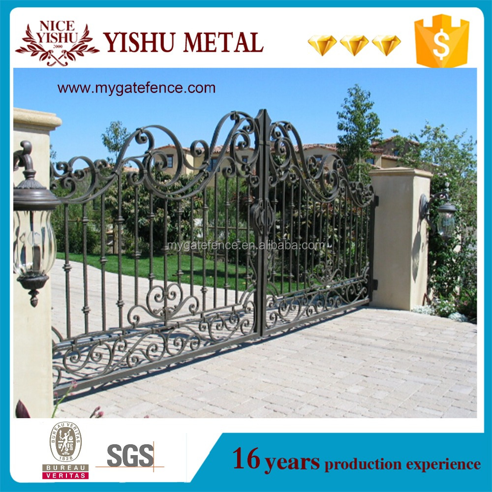 2016 latest main gate designs/indian house main gate designs/wrought iron gates models