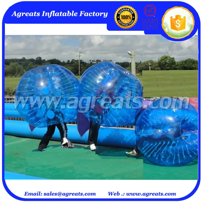 New design zorb-like inflatable bubbles, big size adult bumper ball inflatable soccer bubble ball for sale GB7015