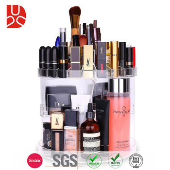 Different size tabletop acrylic perfume organizer