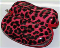 YT0107 Faux Leopard Skin Leather Designers Spectacle Case
