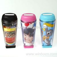 Musical Transparent Double Walls Plastic Piggy