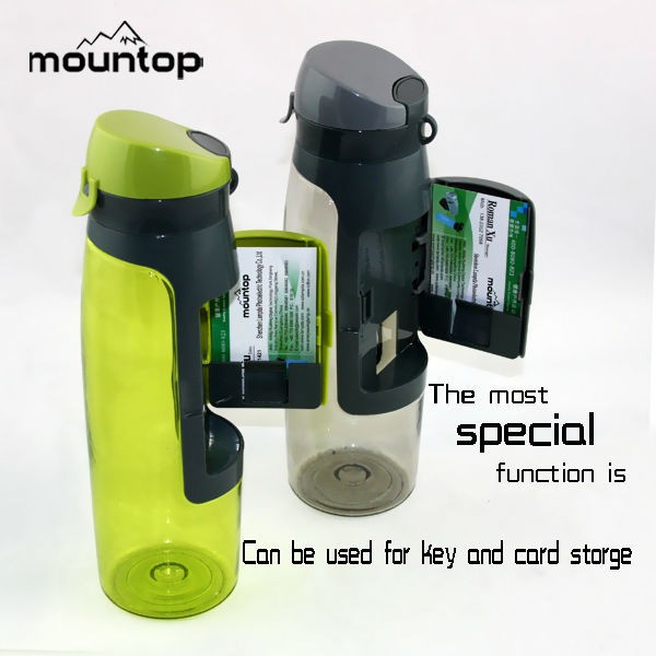 New Product BPA Free Attached Wallet Water Bottle With Compartment bottle with card holder manufacturer