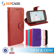 Hot Flip Stand PU Leather Case for iPhone 5C Retro Wallet Silicone Phone Case for iPhone 5C