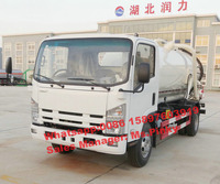 Japanese ELF 700P 190HP High Pressure Jetting Truck, 6000L Suction Dirty Water Truck, 6Tons Sewer Jet Truck For Sales