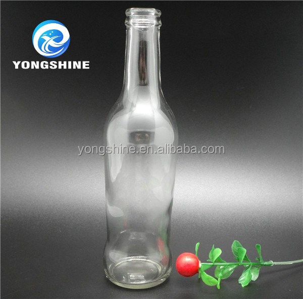 High quality 250ml bulk clear glass soda water bottle with crown cap wholesale