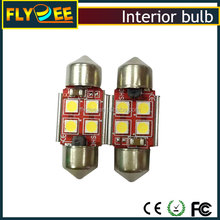 31MM 4SMD 5050 canbus Led bulb 12V Led Free Error c5w festoon Car Auto reading light, license plate lamp for automobile