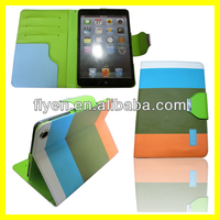 with card bag New Magnetic PU Leather Folio Stand Case Cover with Stylus Holder for iPad Mini1/2