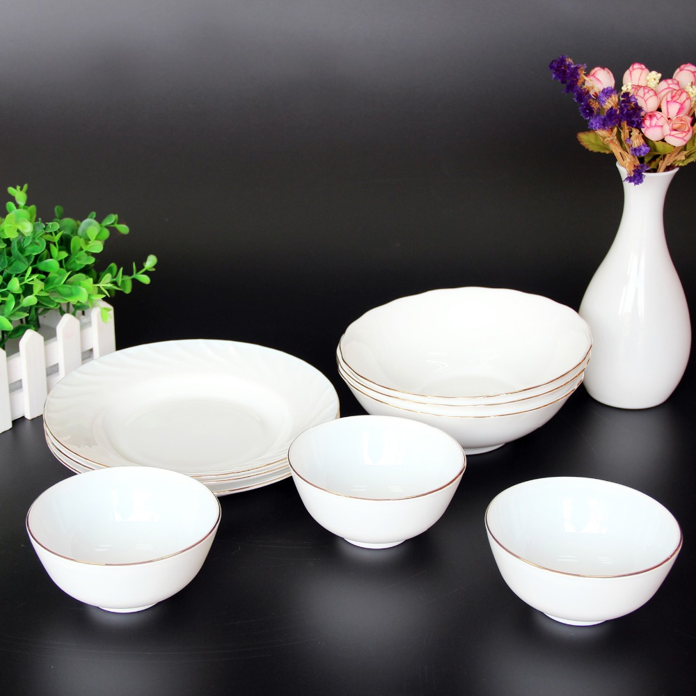 Stackable Tempered Classic Dinner Set of Opal Ware