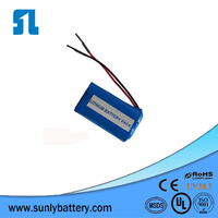 pencil battery 7.4v 18650 battery pack for led light