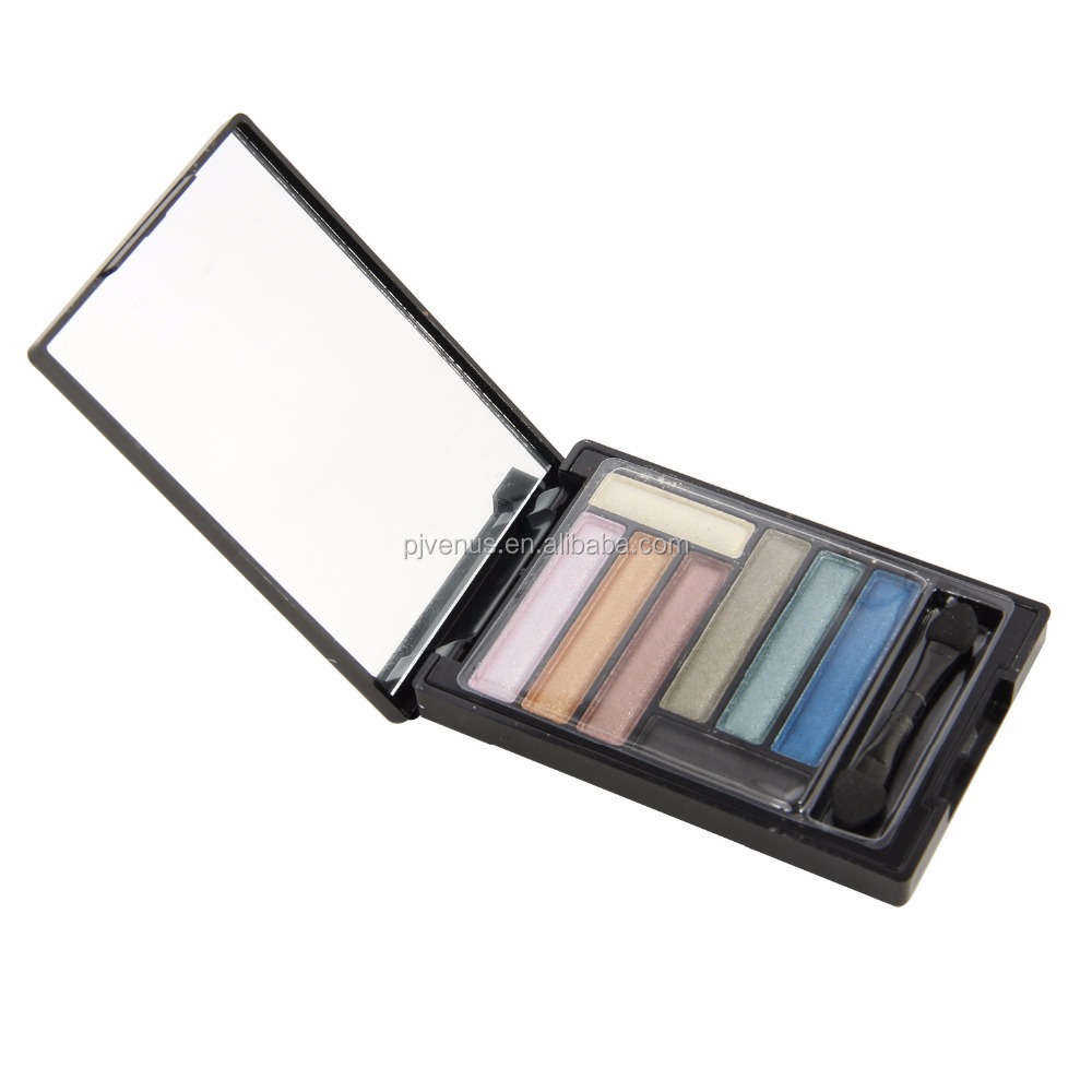 8 colors streak eye shadow with brush and make-up mirror The high quality pearly lustre eyeshadow palette
