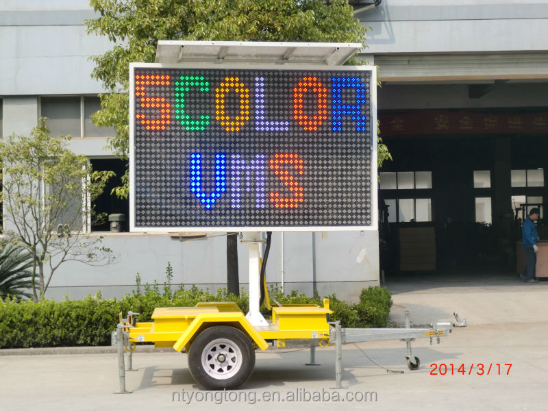 portable Variable Message Signs for traffic control and advertising