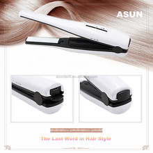 Travel Battery Charge Ceramic Mini Flat Iron Rechargeable Cordless USB Powered Wireless Hair Straightener