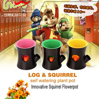 Unique design ABS squirrel flowerpots good home decor companies