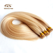 14in-24inch Factory Wholesale Virgin Remy Human stick I Tip Pre-bonded Hair Extensions