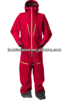 Red one piece adult snow suits for men