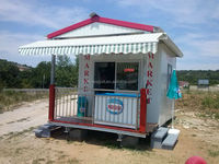 Mobile shop design / Portable truck lifted prefab house