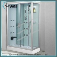 Bathroom Simple Complete Enclo Steam Shower Roomsed Rectangle Sliding White ABS shower panel glass