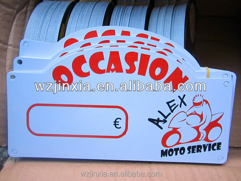 plastic signboard free samples
