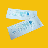 Easy to be used laboratory diagnostic test kit disposable one use alcohol test strip