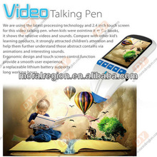 2.4 inch color touch book reading pen for kids talking pen, support WIFI