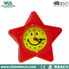 Star shape design metal decoration small table clock , desktop clock gift