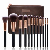 12pcs Pro Makeup Brushes Sets/ Powder Blush Foundation Eye Shadow Blending Brush