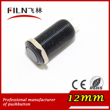 12mm zinc-aluminium alloy short length flat button no lamp momentary 1no 2 solder pins pushbutton switches