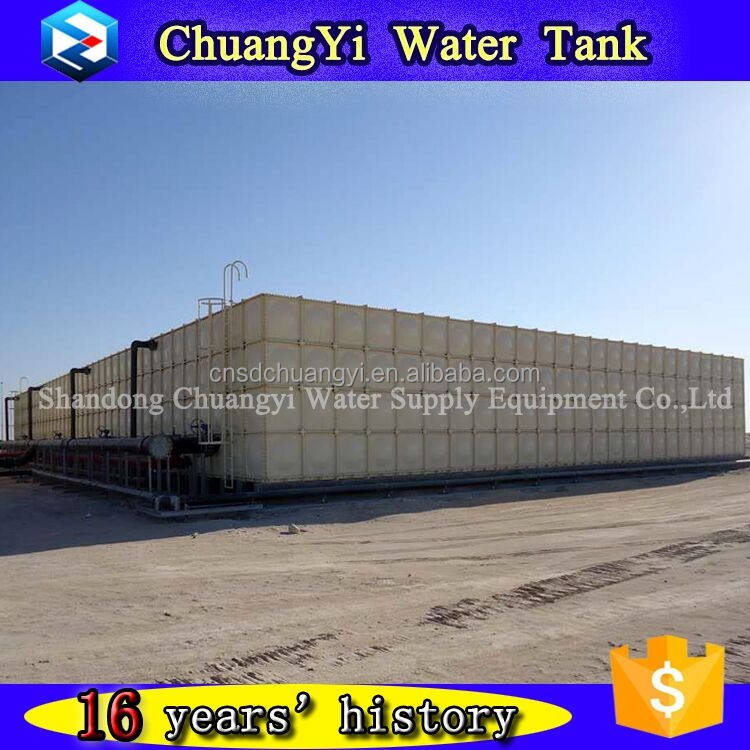 Large Capacity fiberglass combined plastic water tanks,grp water storage tank price, grp/ frp water tank for sport field