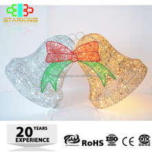 LED holiday decoration 3D motif christmas outdoor hanging xmas LED Bell Motif Light