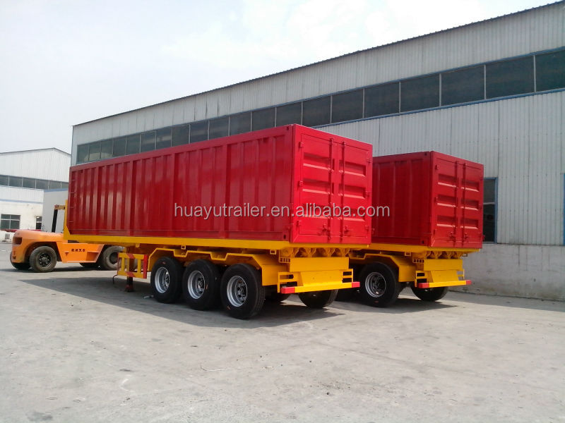 3 axle rear tipper container trailer for sale