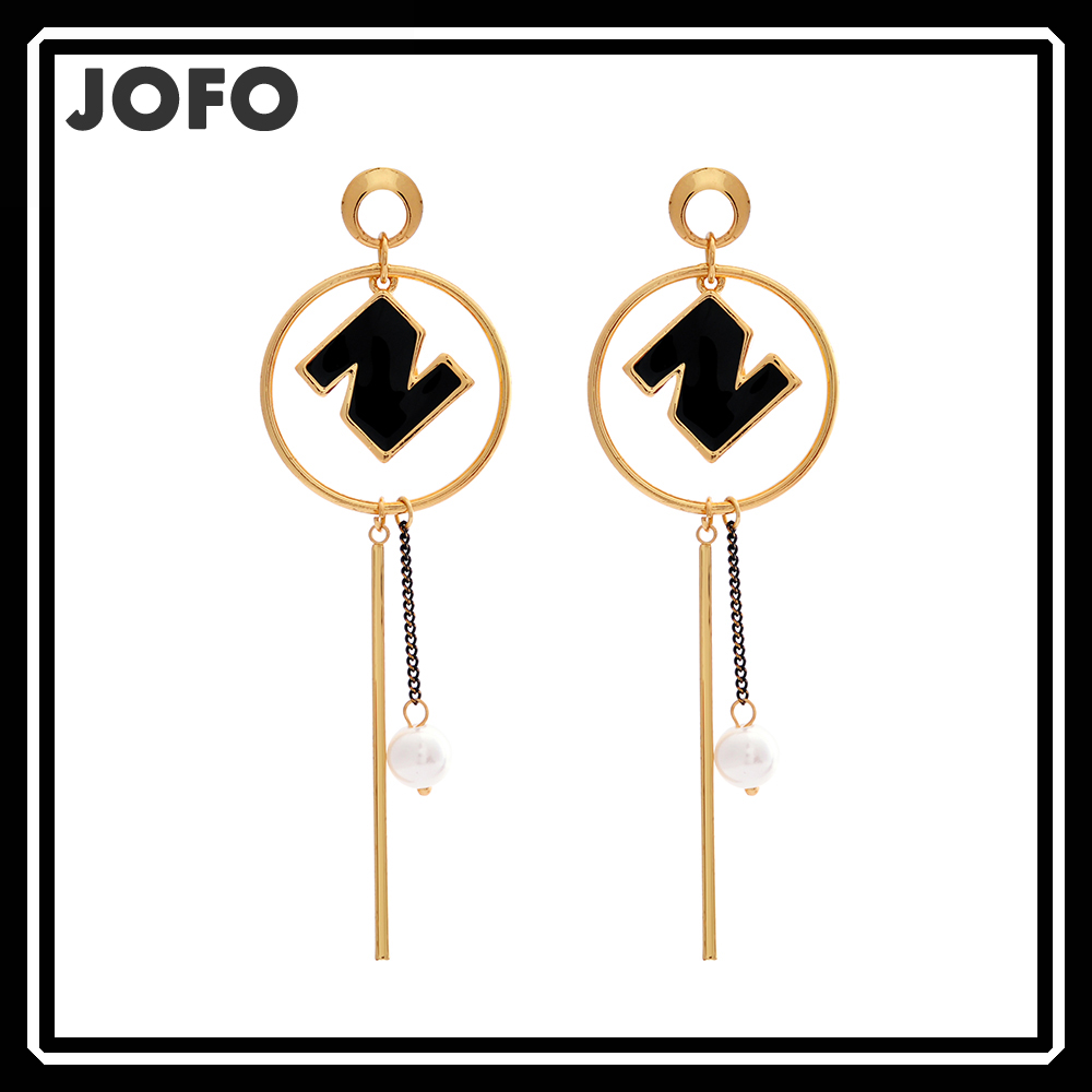 Long Evening Earrings <strong>N</strong> Letter Tassel Earrings AMWJ0078