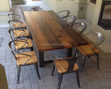 Custom Teak Wood Wooden Dining Table And Chair ,Solid Dining Table And Chairs