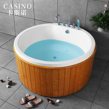 Wooden Bathtub Free Standing Large Round Whirlpool Bathtubs acrylic baby jacuzz i bathroom bathtub faucet