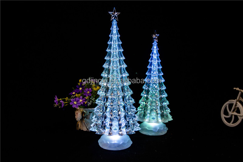 new design promotion wholesale hot sale acrylic led christmas tree ornament