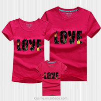 New fashion lovely cartoon bears printing family set clothes , fashion design couple t shirts