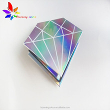 New Arrive Glossy Hologram Paper Eyelash Packaging Box With Logo Magnetic Closure