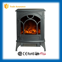 wood fireplace electric heater with imitation log for home decor