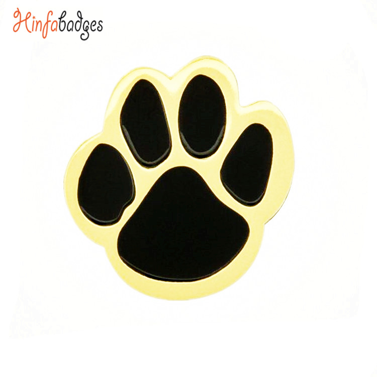 Wholesale <strong>Metal</strong> Promotional Design Your Own Custom Gold <strong>Metal</strong> Paw Shape Epoxy lapel pins