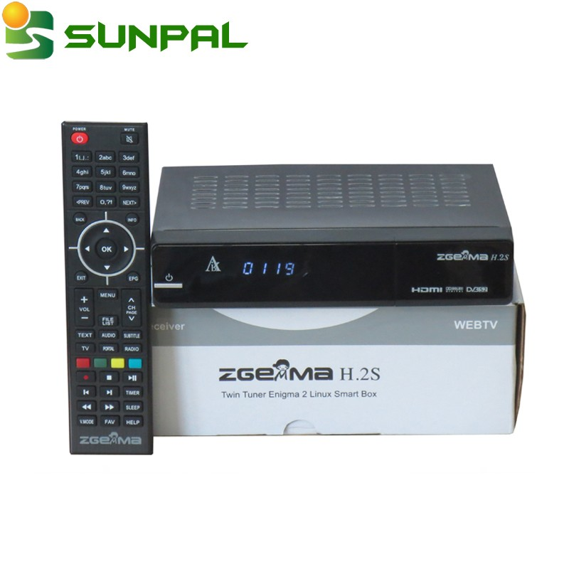 Newest Zgemma Star 2S twin tuner DVB-S2 751mhz digital satellite tv receiver zgemma star H.2S