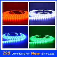 solar powered waterproof led strip lights 12V new flexible led strips 3527 120leds/m high lumen chips double color in one chip