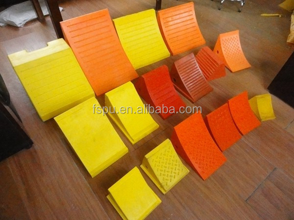 Hot Sale Polyurethane PU Wheel chock Stop Blocks Truck Stopper