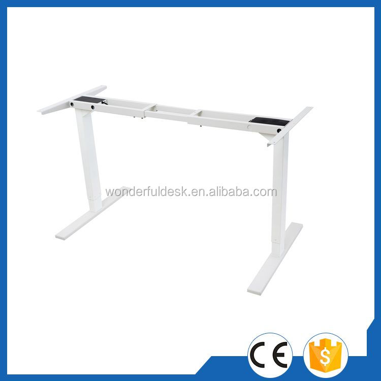 Contemporary latest design adjustable computer metal table 2 segments