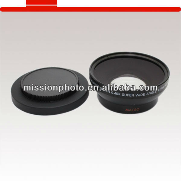 camera conversion lens of wide angle lens 52mm 0.45x super wide angle lens for Canon Nikon