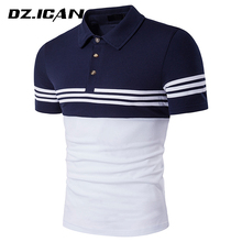 Breathable Elastic Customized Logo Polo Shirt For Mens